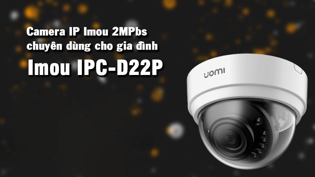 Camera IPC-D22P-IMOU là Camera IP Wifi iMOU thiết kế nhỏ gọn nhẹ, độ phân giải 2.0megapixel