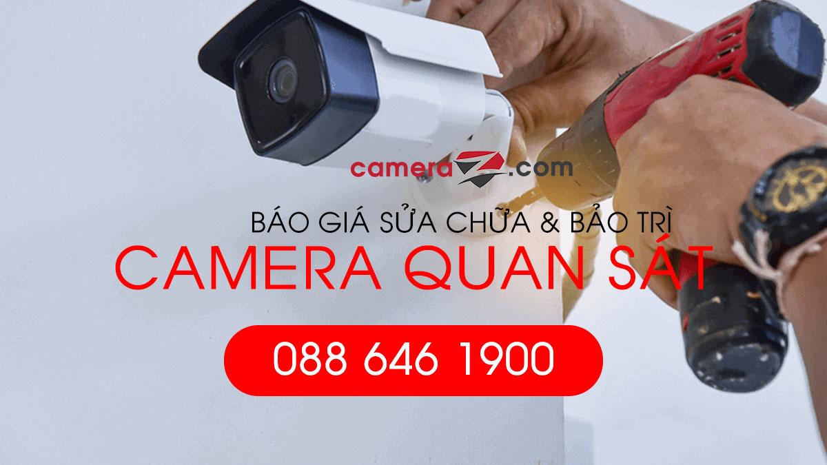 Bảng giá dịch vụ sửa chữa camera, sửa chữa đầu ghi hình uy tín giá rẻ