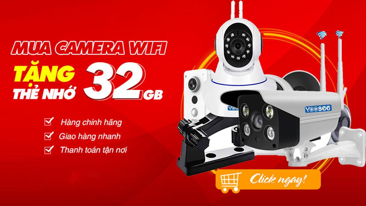 Mua camera yoosee bến tre tặng thẻ nhớ 32g chính hãng