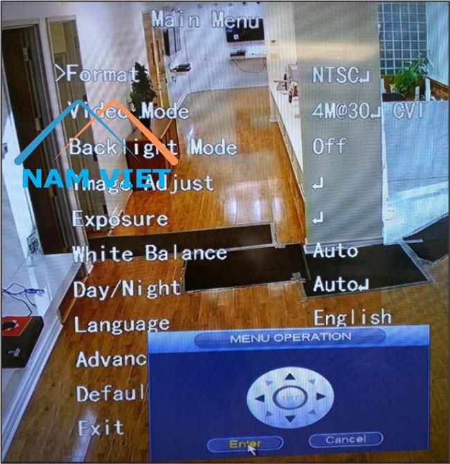 OSD Dahua Bật có thể được mở bằng bảng điều khiển hướng để điều khiển lên xuống trái phải,….Và xác nhận bằng Enter