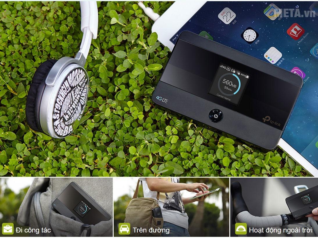 Bộ phát wifi di động 4G LTE TpLink M7350 thiết kế tiện lợi cho di chuyển cùng tính năng phát wifi vượt trội