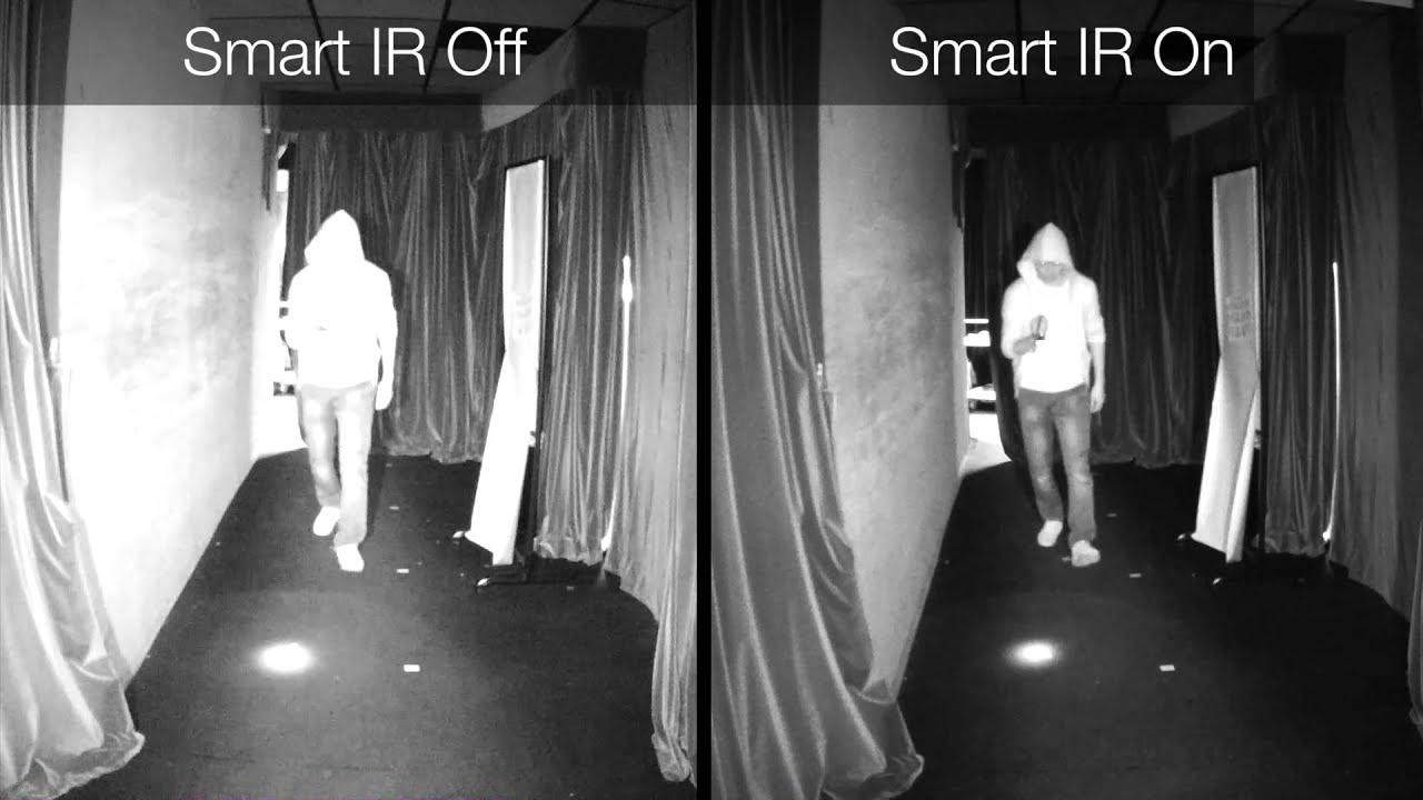 tính năng Smart IR sẽ tự điều chỉnh lại cường độ hồng ngoại để hình ảnh được hiển thị rõ ràng nhất