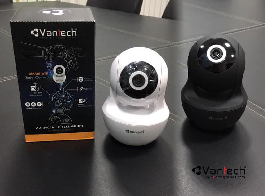 Bộ đôi camera vantech ai-v2020 đen và trắng