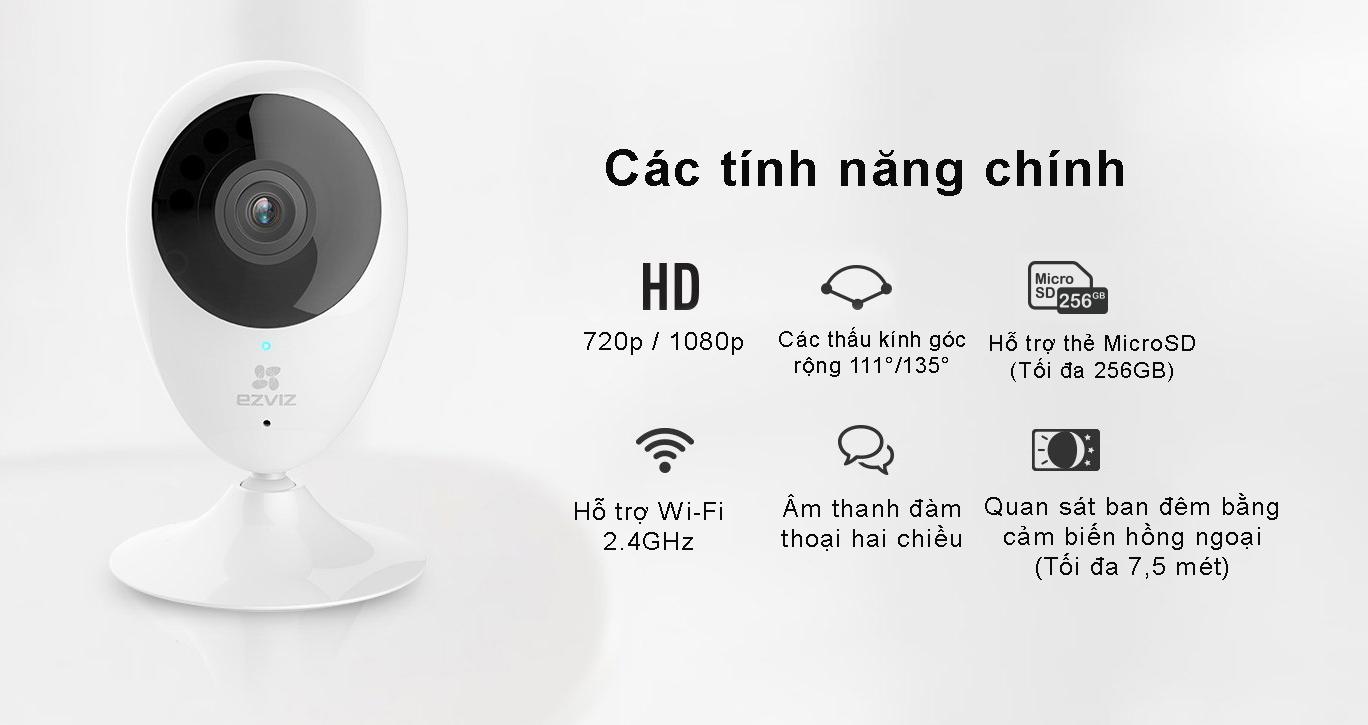 Camera Wifi EZVIZ C2C chính hãng giá tốt tại Bến Tre