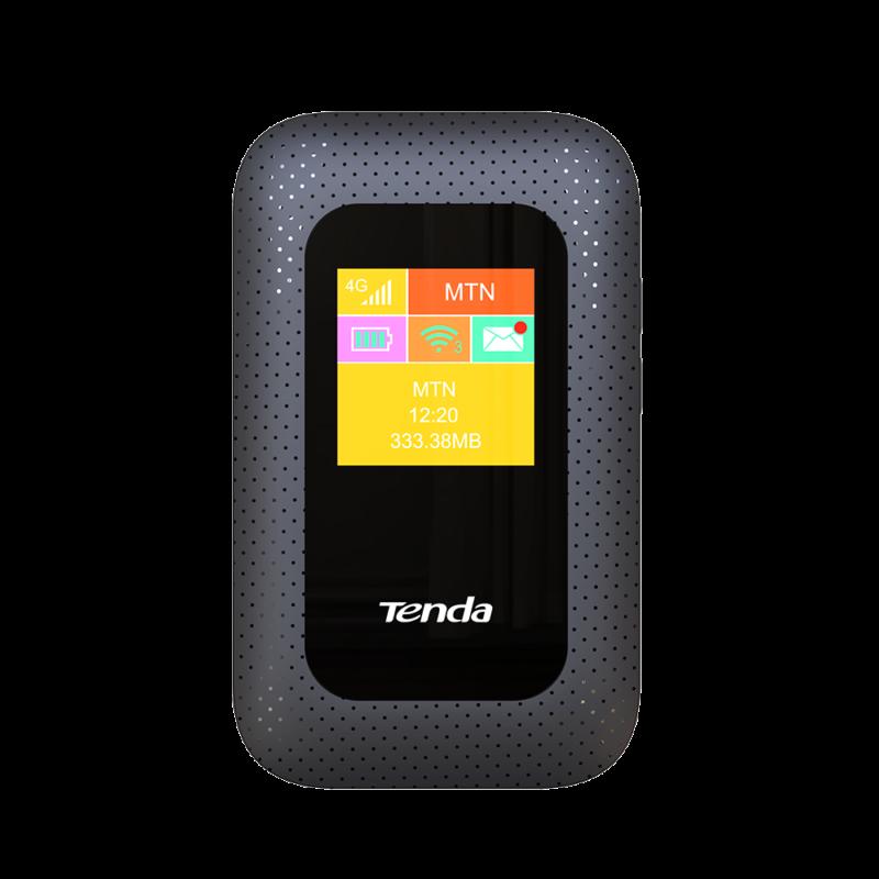 bộ phát wifi 4g lte tenda 4g185 màu đen chính hãng giá rẻ